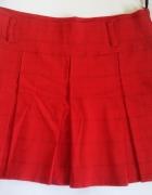 Spódniczka mini czerwona w delikatną kratkę...