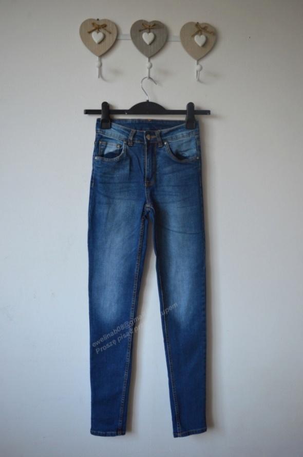 spodnie rurki wysoki stan XS