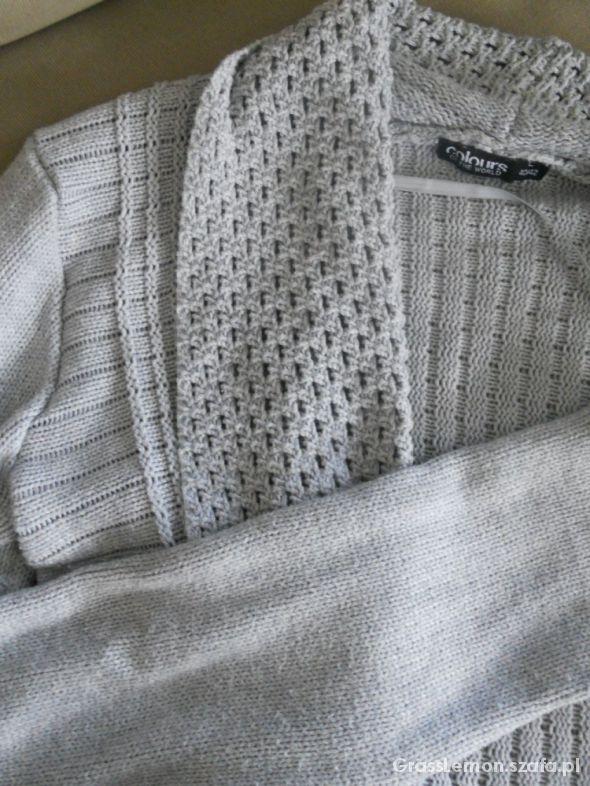 Waterfall sweter narzutka szara rozmiar L...