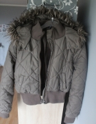 H&M khaki zimowa cieplutka
