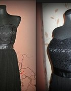 Sukienka koronka szyfon CZARNA L...