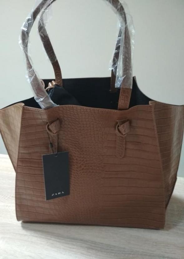 zara super duża torebka shopper bag