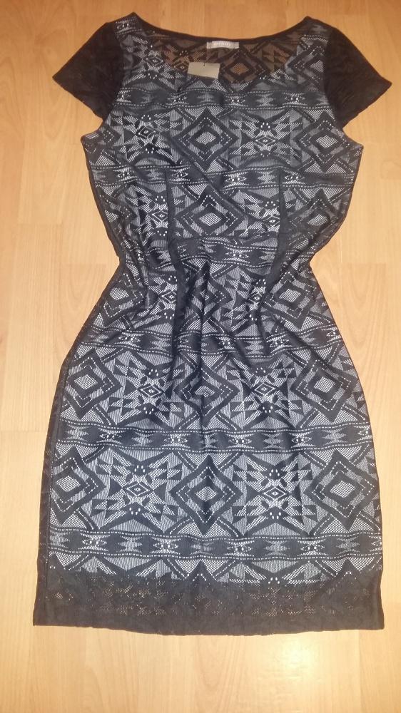 Nowa czarna koronkowa sukienka Orsay 34 Sylwester