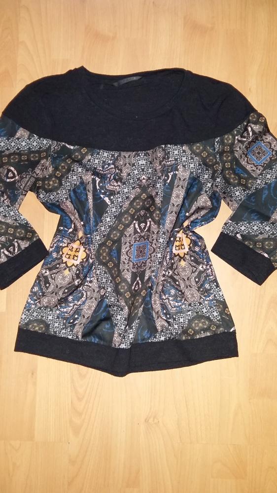 Szara bluzka we wzory Vero Moda S