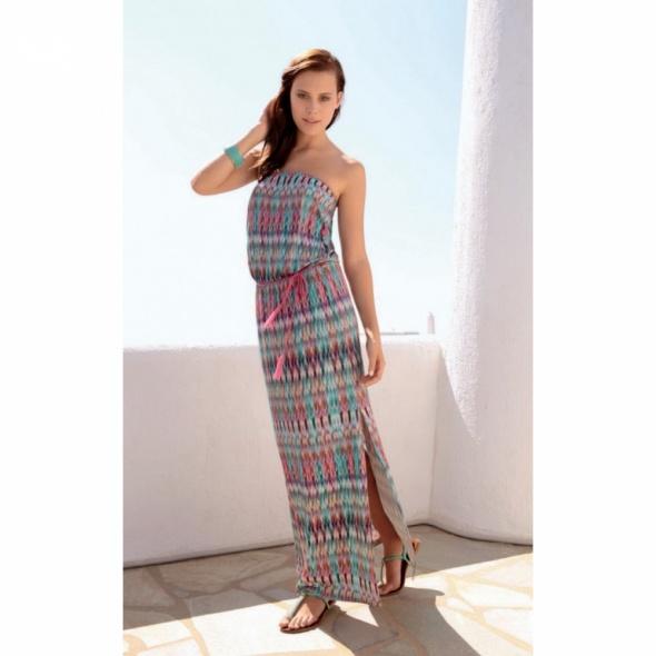 0554c65eb8 Sukienka plażowa pastelowa długa rozmiar XL w Suknie i sukienki ...