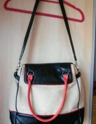 Topshop torba shopper bag color block neon...