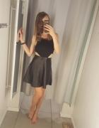Nowa Czarna sukienka misguided skora wyciecia