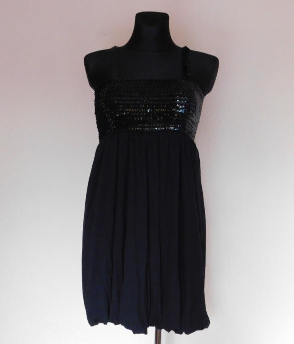 New Look czarna mini sukienka cekiny 44...