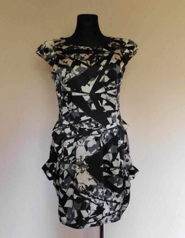 Lipsy sukienka czarna wzory 40...