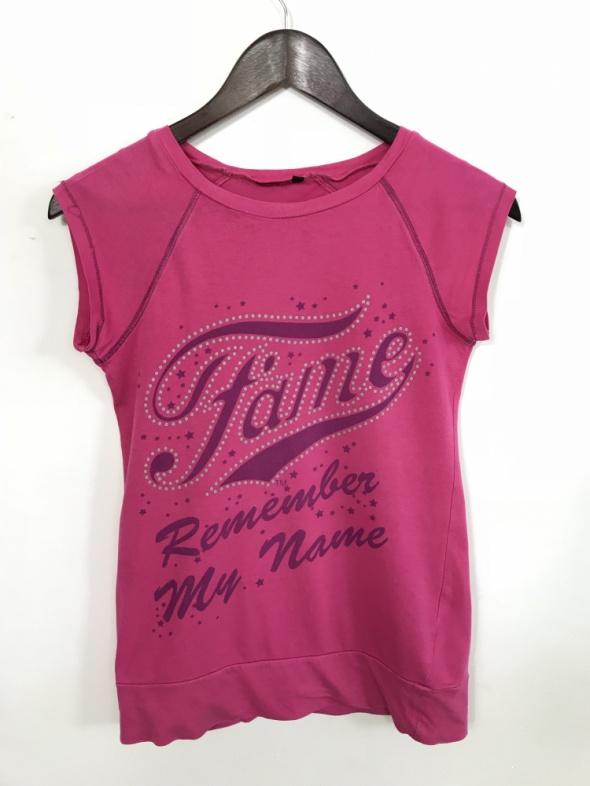 Różowa koszulka FAME REMEMBER MY NAME...