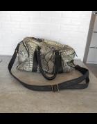 Topshop kuferek torba wężowy wzór długi pasek...
