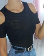Bluzka koszulka odkryte ramiona prążkowana top shop xs...