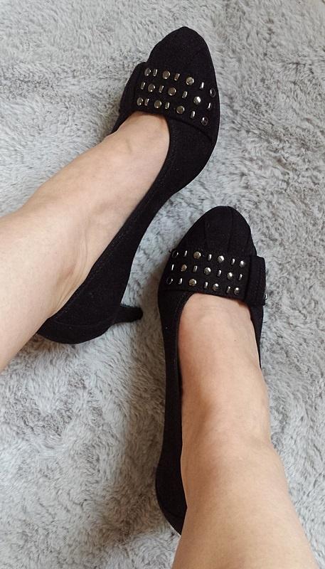 Nowe buty szpilki czółenka czarne zamszowe Deichmann Graceland...
