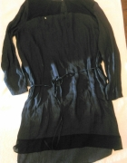 Czarna tunika sukienka Zara