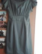 Ciemnoszara wąska sukienka...