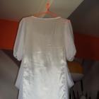 KIM sliczna biała zwiewna sukienka 36 S dwuwarstwo