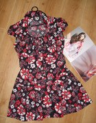 Naughty sukienka rozkloszowana 40 42 szmizjer flor...