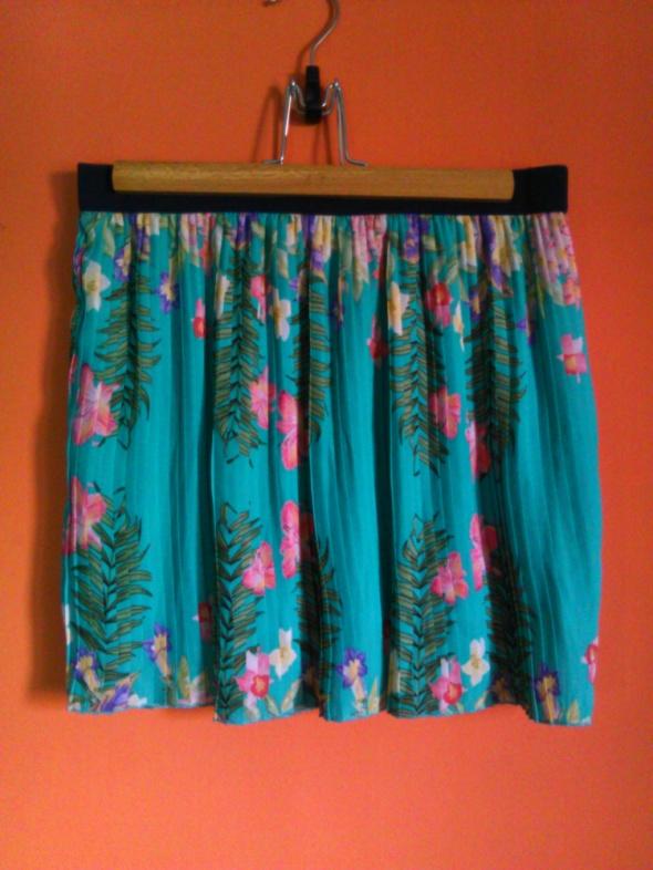 Spódnice Stradivarius plisowana spódnica 38 M kwiaty morska