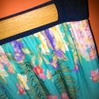 Stradivarius plisowana spódnica 38 M kwiaty morska