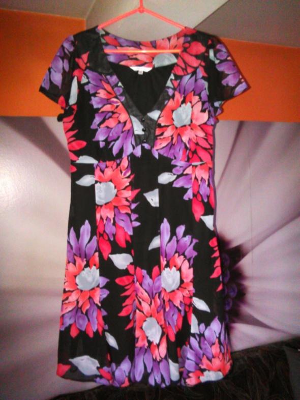 M&Co szyfonowa sukienka kwiaty 40 L sliczna zwiew...