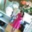 Troll różowa sukienka rozkloszowana półgolf 38 40