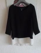 Atmosphere asymetryczny sweter bluzka 2 w jednym