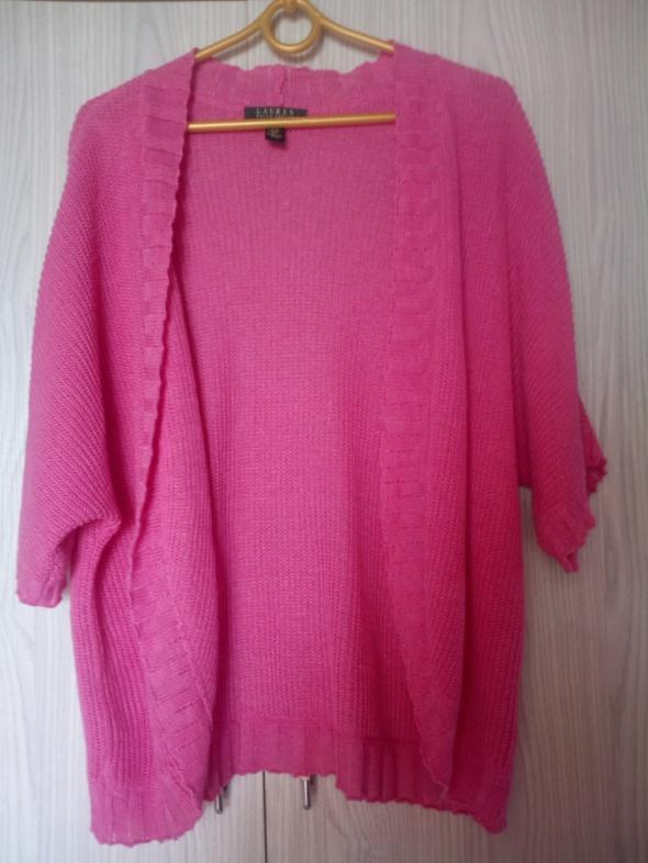 Swetry różowy sweterek bolerko