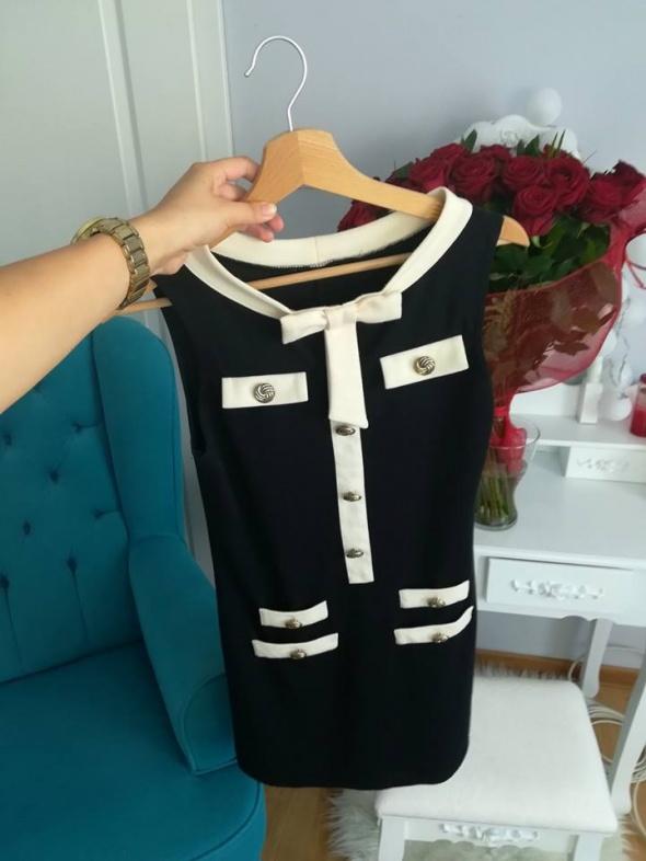 Suknie i sukienki Biało czarna sukienka