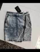 Ołówkowa spódnica jeans zamek mohito