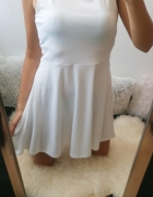 H&M Sukienka rozkloszowana biała nowa 40 L
