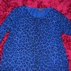 sweterek oversize niebieska panterka