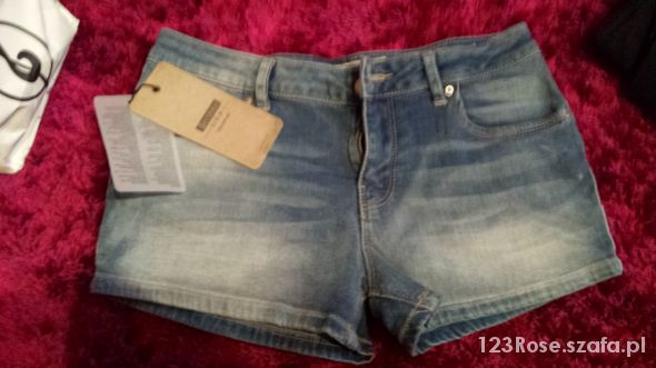 nowe jeansowe szorty bershka 36 push up...