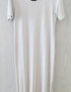 Szara długa sukienka