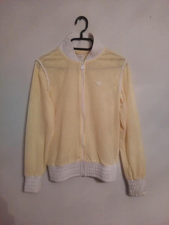 Bluzy bluza adidas żółta siatka