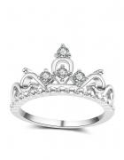 Pierścionek korona cyrkonie