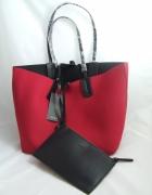 Zara nowa z metką malinowa torba shopper bag