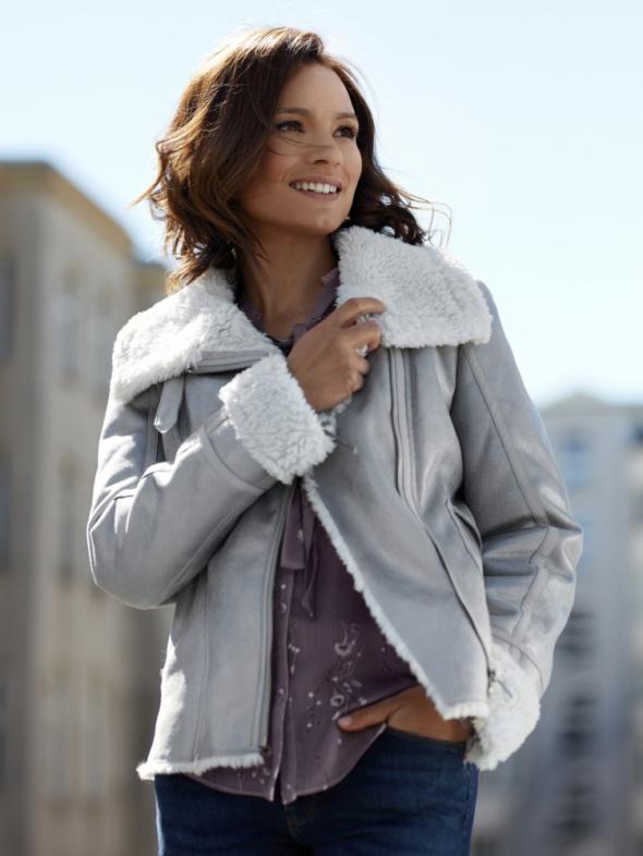 Ubrania Kożuszek srebrny Orsay