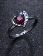 Oryginalny pierścionek serce rozm 8