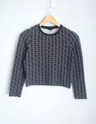 Topshop krótki sweterek we wzory...