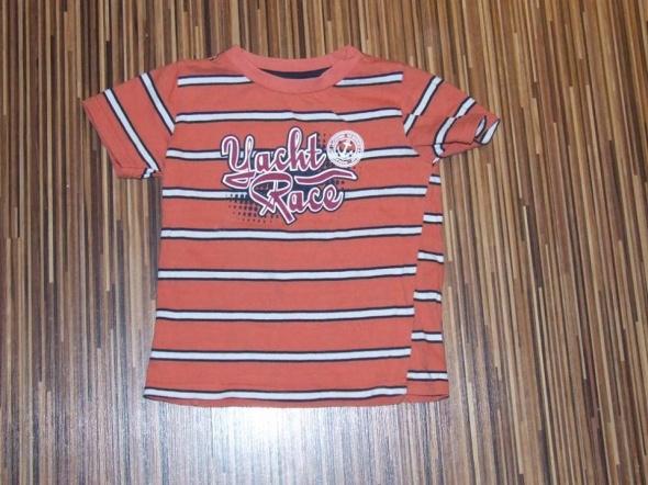 koszulka pomaranczowa w paski Reserved rozmiar 98...