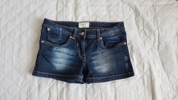 C&A szorty jeans bawełna przetarcia
