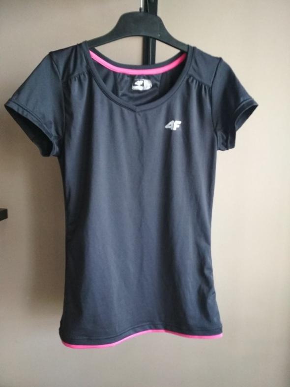 Sportowa czarna koszulka 4F S różowa...