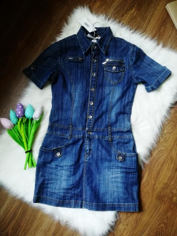 9ae5c3a308 jeansowa sukienka tunika mango jeans szmizjerka w Suknie i sukienki ...