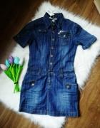 jeansowa sukienka tunika mango jeans szmizjerka...