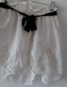 biała ażurkowa spódniczka M...