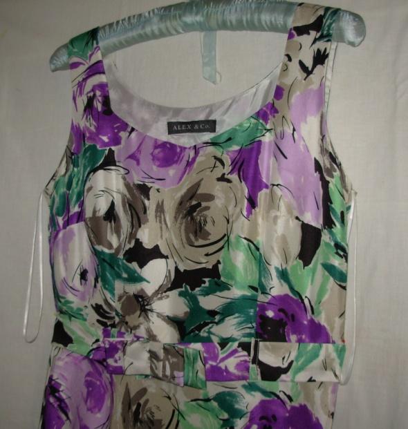 Jedwabna sukienka ALEX i Co 38...