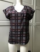 Bluzka z geometrycznym nadrukiem tunika print oversize