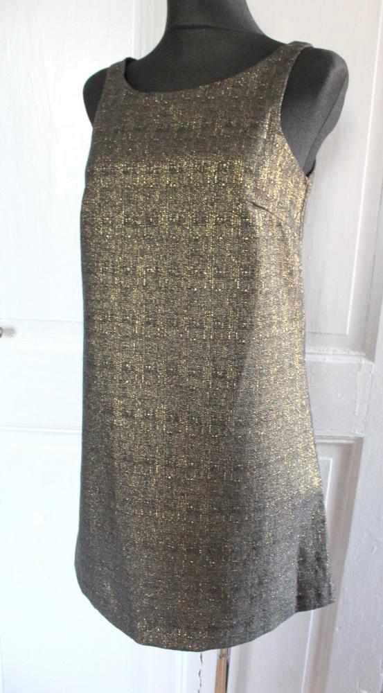 Złota trapezowa sukienka r XS...