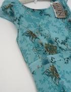 sukienka mgiełka Orsay 36 kwiaty