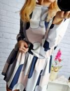 Pastelowa sukienka sciagacz Milady